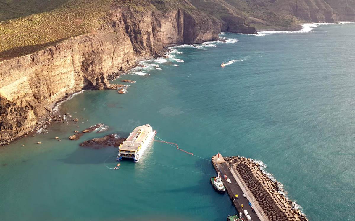 Se activa el PLATECA de forma preventiva por el encallamiento del ferry Bentago Express