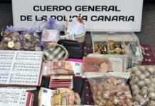 Material incautado el 19 de enero en Las Palmas de Gran Canaria./ Cedida,