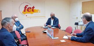 Un momento del encuentro de Ramón Morales con la FET./ Cedida.
