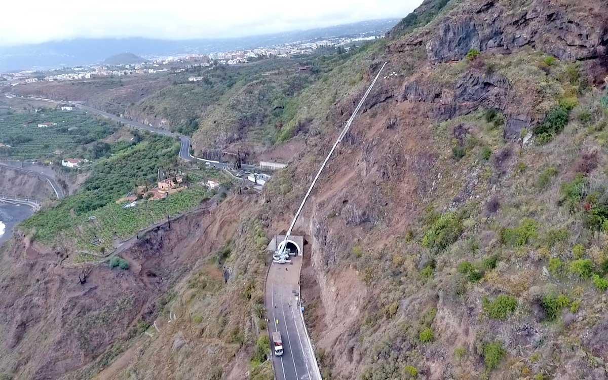 Cabildo y ayuntamientos coordinan el desvío para el refuerzo de la ladera de Los Realejos