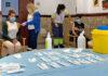 Vacunación COVID en el centro sociosanitario San Nicolás de Bari, en Gran Canaria./ Cedida.