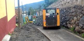 Las obras de saneamiento y pluviales del barrio de La Hoya, Güímar./ Cedida.