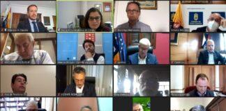 Reunión telemática de la FECAI y de la FECAM./ Cedida.