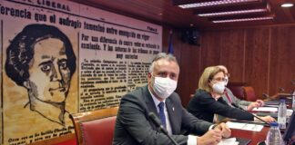 Ángel Víctor Torres, intervino este mediodía en el Senado./ Cedida.