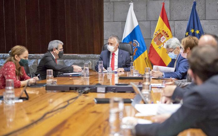 Consejo de Gobierno celebrado hoy en Santa Cruz de Tenerife./ Cedida.