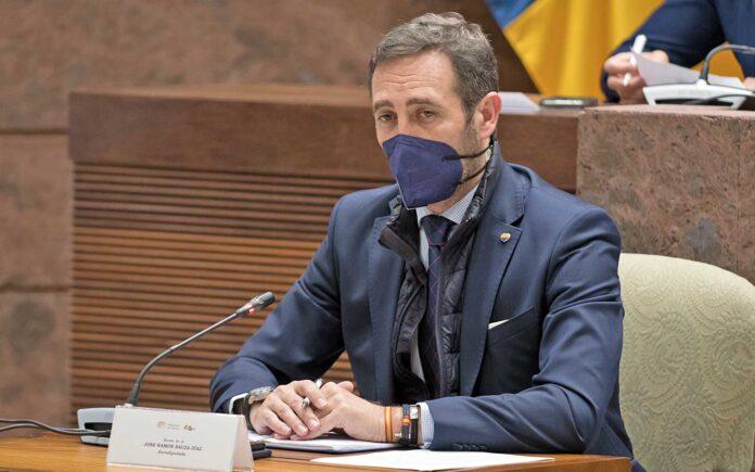Comparecencia hoy del eurodiputado de Ciudadanos y expresidente de Baleares, José Ramón Bauzá./ Cedida.