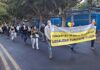 Los manifestantes por las calles de Santa Cruz./ Cedida.