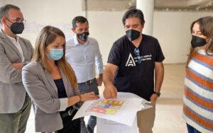Visita a la obras nueva UTS de Añaza./ Cedida.