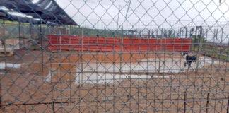Situación en las que quedaron las instalaciones tras las lluvias./ Cedida.