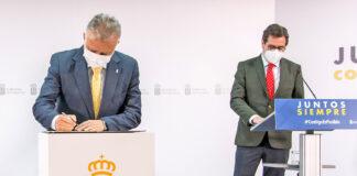 Firma del acuerdo 'Plan Sumamos Salud+Economía'./ Cedida.