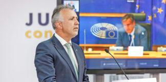 Ángel Víctor Torres, ha intervenido hoy en la Comisión LIBE./ Cedida.