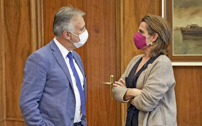 Ángel Víctor Torres y Teresa Ribera./ Cedida.