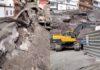 Derrumbe en la parcela situada entre las calles El Sol y El Carmen en Puerto de Santiago./ Cedidas.
