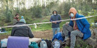 Campamento Las Raíces, migrantes./ Cedida.