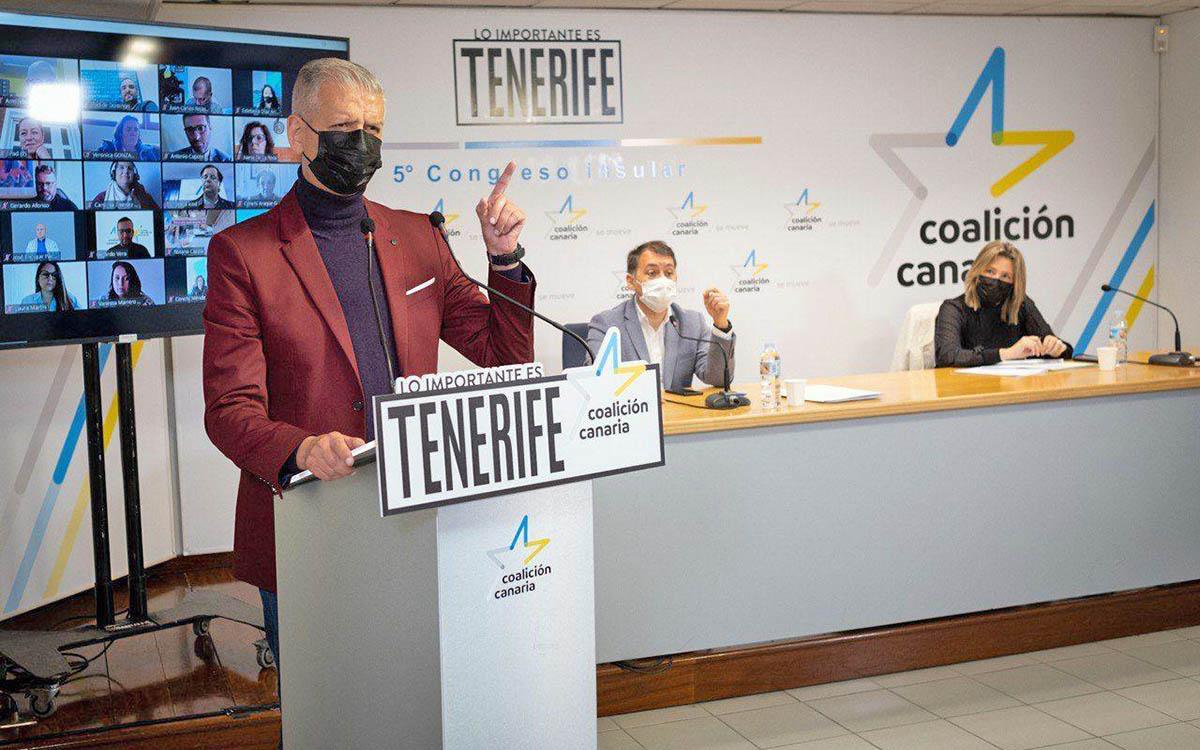 Francisco Linares reelegido secretario general insular de CC Tenerife