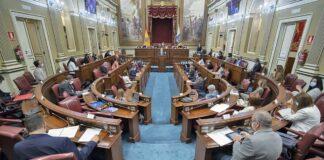 Sesión plenaria del Debate General sobre el Estado de la Nacionalidad Canaria./ Cedida.