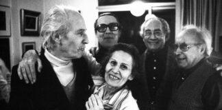 Luc Peire. Domingo Pérez Minik, Luc en Jenny Peire, Pedro García Cabrera y Eduardo Westerdahl. 1979. FOTO: FUNDACIÓN PGC./ apt. (https://tenerife.fape.es/)