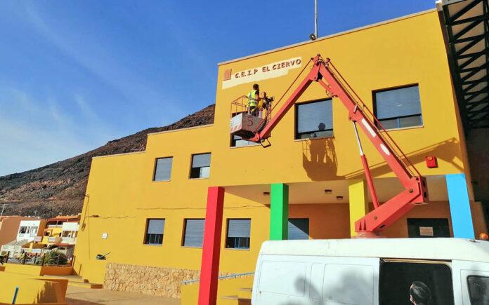 Plan de Empleo en centros de educación de Fuerteventura./ Cedida.
