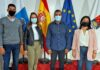 Los cuatro concejales de CC en Adeje, Alberto Melián, Diana Ariza, Oliver Tacoronte y Patricia León./ Cedida.