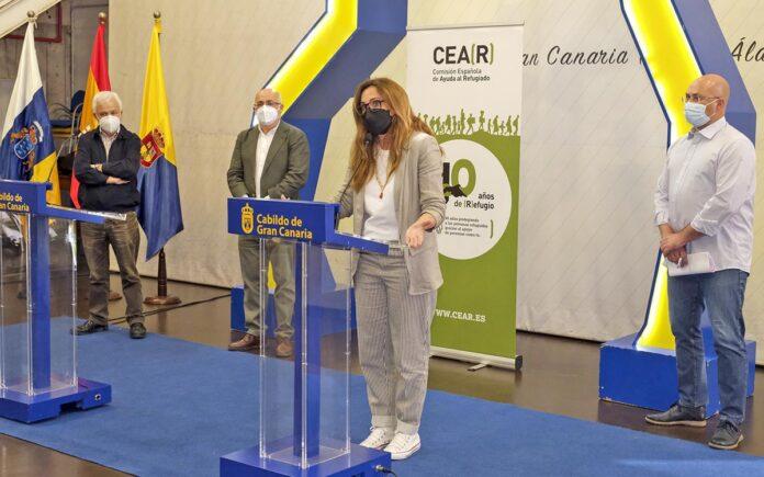 Intervención de Estrella Galán, directora general de CEAR España./ Cedida.