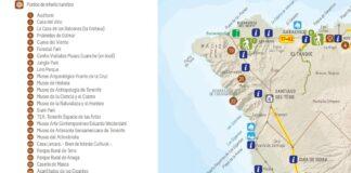 Detalle del nuevo mapa de puntos de interés turístico.