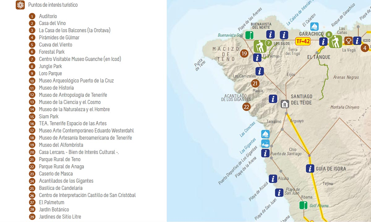 """CC-PNC califica de """"chapuza inaceptable"""" que la nueva marca turística de Tenerife incluya un mapa con 22 errores"""