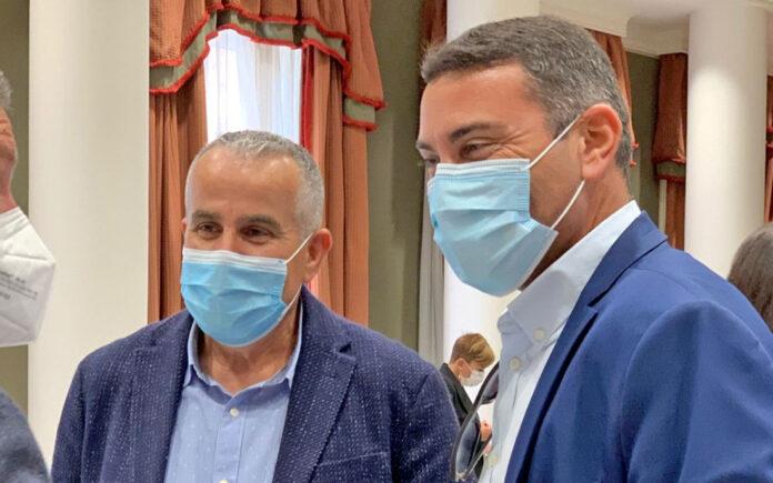 Los parlamentarios Oswaldo Betancort, Lanzarote y Mario Cabrera, Fuerteventura./ Cedida.