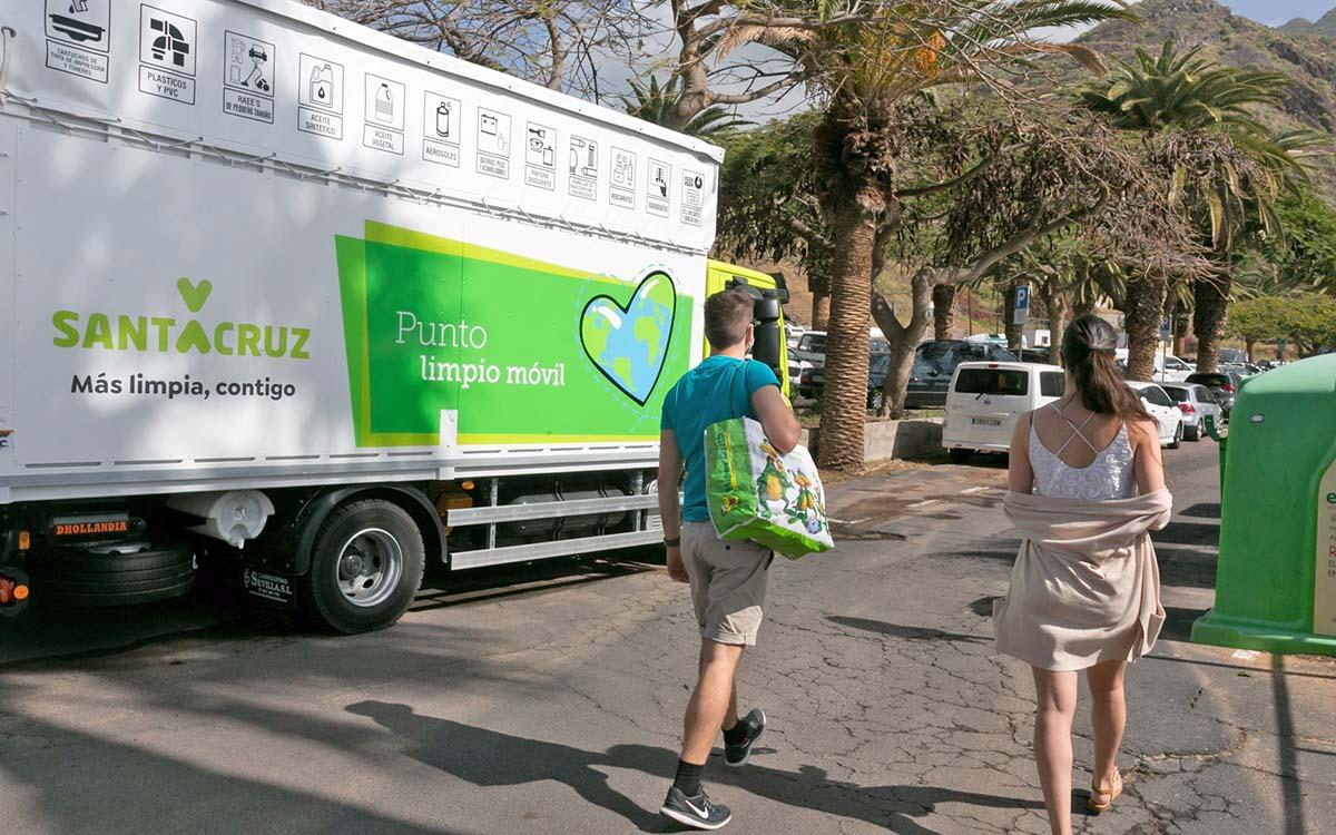 El Punto Limpio móvil de Santa Cruz cambia de localizaciones a partir de mañana lunes