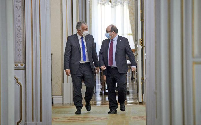 Miquel Iceta y Ángel Víctor Torres./ Cedida.