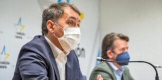 José Manuel Bermúdez y Carlos Alonso comparecieron esta mañana para denunciar la existencia de estos datos./ Cedida.