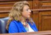 Cristina Valido García, diputada por el Grupo Nacionalista Canario CC-PNC en el Parlamento de Canarias