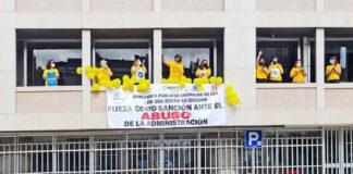 Huelga de empleados públicos temporales, S/C. de Tenerife./ Cedida.