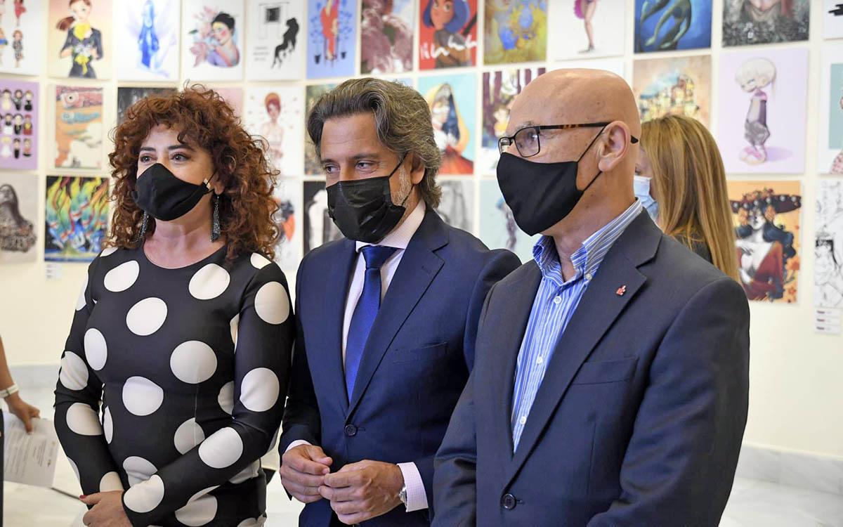 Inauguración en el Parlamento de la exposición 'Ilustradoras & Ilustradas'