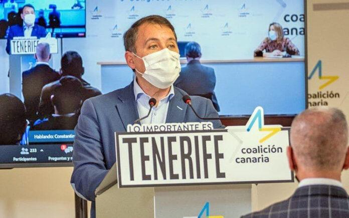José Manuel Bermúdez, secretario de Política Insular de CC de Tenerife./ Cedida.