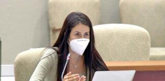 Melodie Mendoza, presidenta del Grupo Parlamentario Agrupación Socialista Gomera (ASG)./ Cedida.