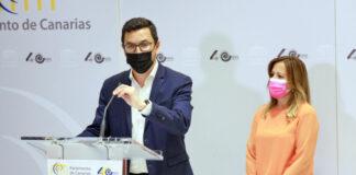 Los diputados del Grupo Nacionalista Canario, Pablo Rodríguez y Rosa Dávila./ Cedida.