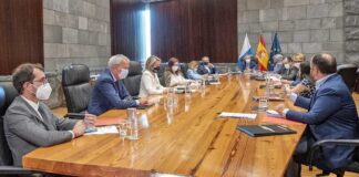 Consejo de Gobierno celebrado en la tarde de hoy en Santa Cruz de Tenerife./ Cedida.