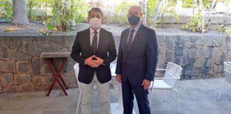 El alcalde, José Manuel Bermúdez, y el ministro de Justicia, Juan Carlos Campo./ Cedida.
