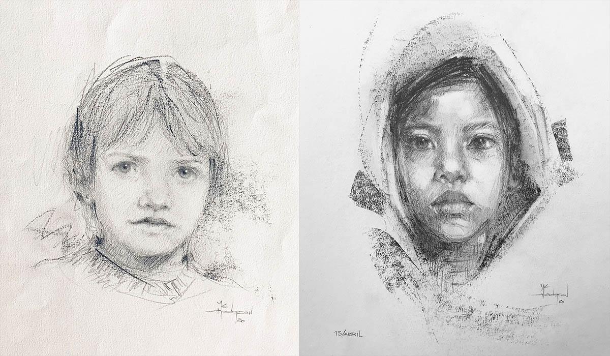 """Mª. Luisa Hodgson expone en la sala del parque García Sanabria su colección de dibujos """"Caras de papel"""""""