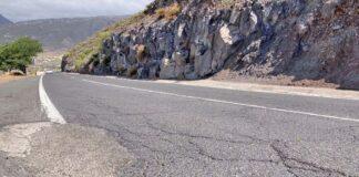 Carretera TF-28 entre La Centinela y La Camella./ Cedida.