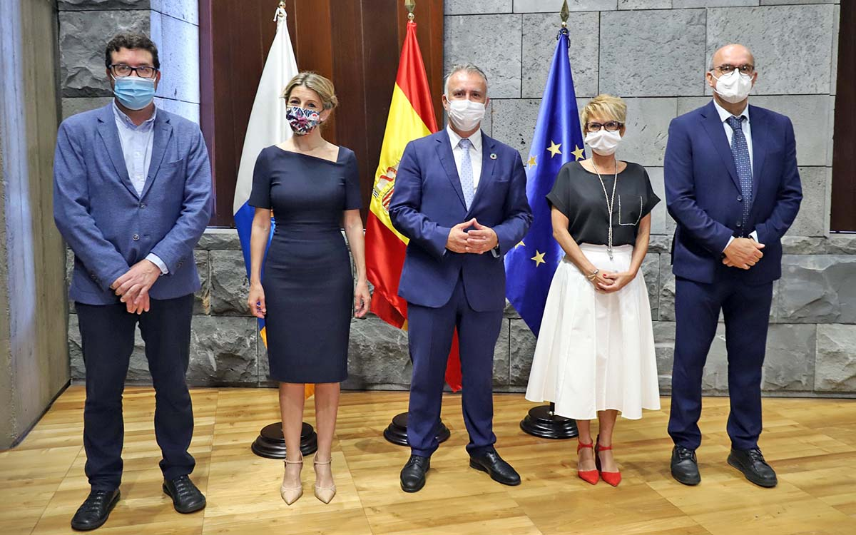 Canarias y el Estado adelantan la firma del PIEC de 2021 para reactivar e impulsar el empleo