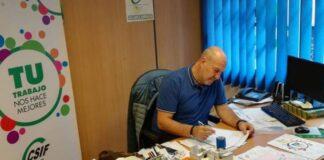 César Martínez Araque, presidente del CSIF en Canarias./ Cedida.