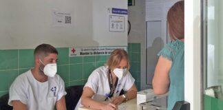 Primer día del cribado poblacional en los centros de Tíncer, San Isidro y La Cuesta./ Cedida.