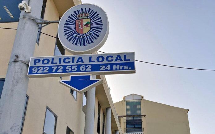 Oficina de la Policía Local en Los Cristianos./ Cedida.