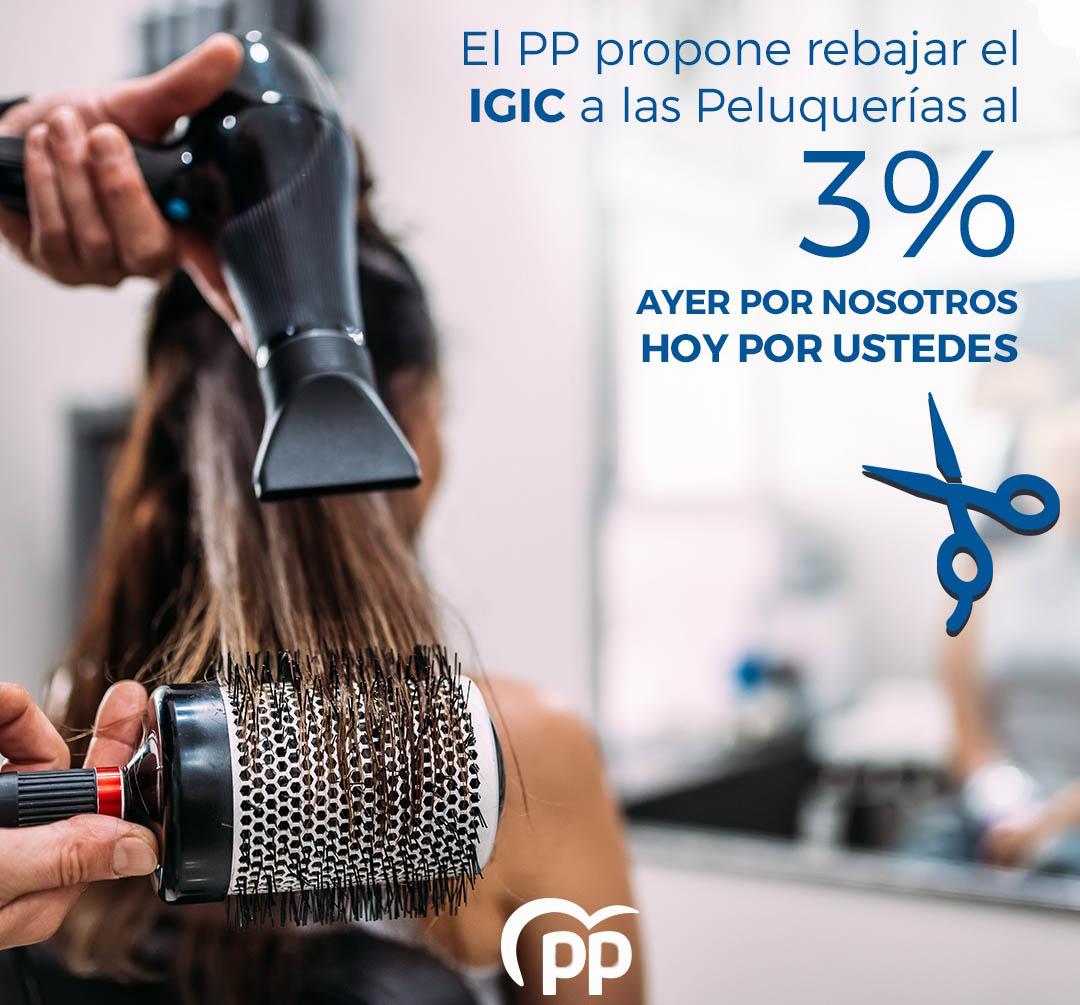 El PP instará la rebaja del 7% al 3% del IGIC a peluquerías, barberías y salones de belleza