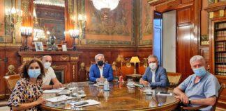 Un momento de la reunión mantenida en Madrid./ Cedida.