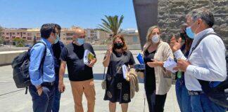 Grupo socialista en el Cabildo de Fuerteventura./ Cedida.