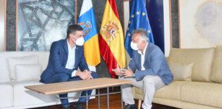 El presidente de Canarias, Ángel Víctor Torres, y su homólogo en el Gobierno de España, Pedro Sánchez./ Cedida.