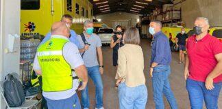 Un momento de la visita a las instalaciones de Emerlan./ Cedida.