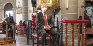 Ángel Víctor Torres participó esta mañana en los principales actos de la celebración del Día de Nuestra Señora del Pino./ Cedida.